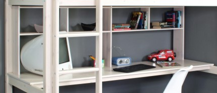 HiT Full Length Desk with Bookcase