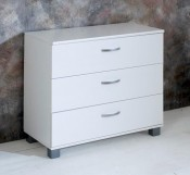 Nordic white 3 Drawer chest