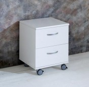 Nordic white 2 Drawer Chest