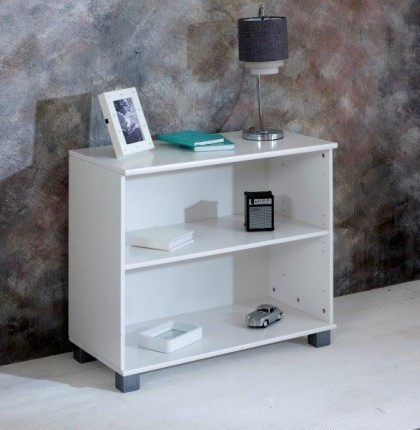 Nordic white 2 Shelf Bookcase