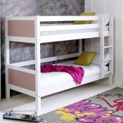 Nordic White Bunkbed - rose headboard - frame only