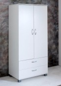 Nordic white 2 Door / 2 Drawer Wardrobe