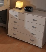 Stompa 4 Drawer Chest - White