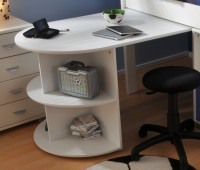 Stompa White Pull Out Desk